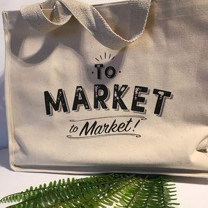 🇨🇦New Canvas Market Bag